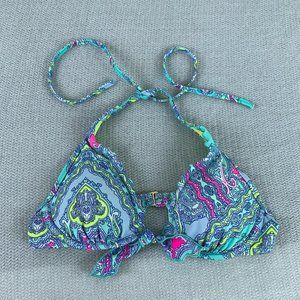 Victorias Secret Swim Neon Paisley Bikini Top
